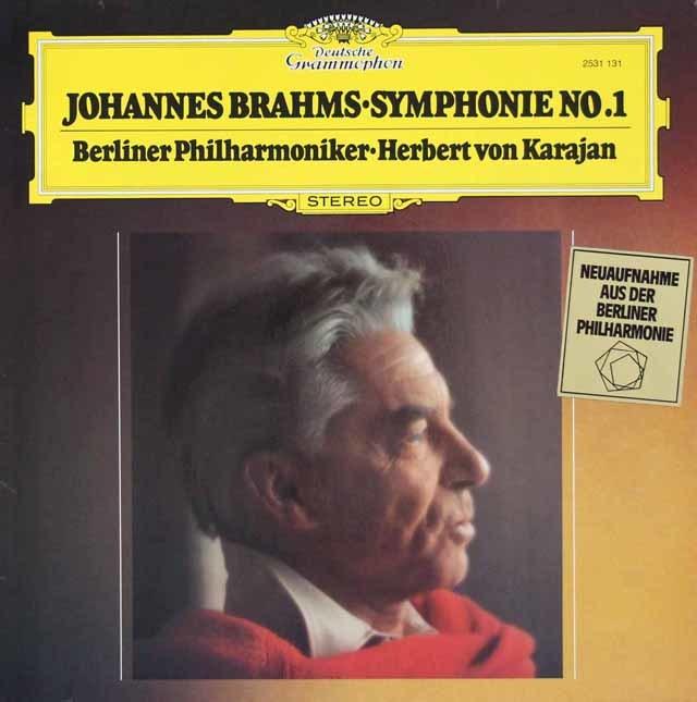 【内袋未開封】カラヤンのブラームス/交響曲第1番 独DGG 3107 LP レコード