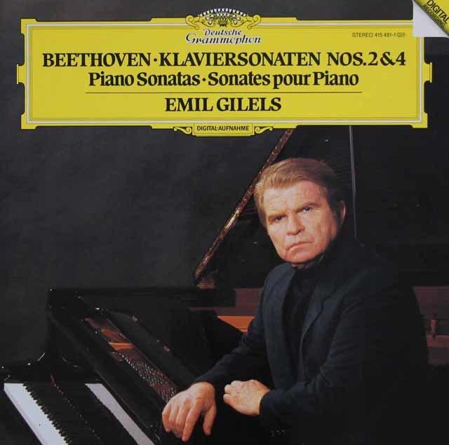 ギレリスのベートーヴェン/ピアノソナタ第2&4番 独DGG 3107 LP レコード