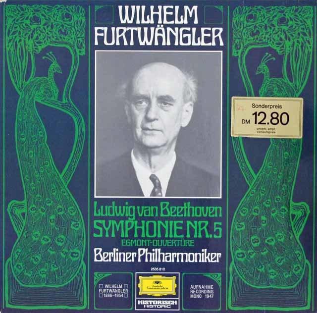 フルトヴェングラーのベートーヴェン/交響曲第5番ほか 独DGG 3107 LP レコード
