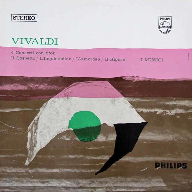 イ・ムジチ合奏団のヴィヴァルディ/ヴァイオリン協奏曲「疑い」ほか  蘭PHILIPS 3107 LP レコード