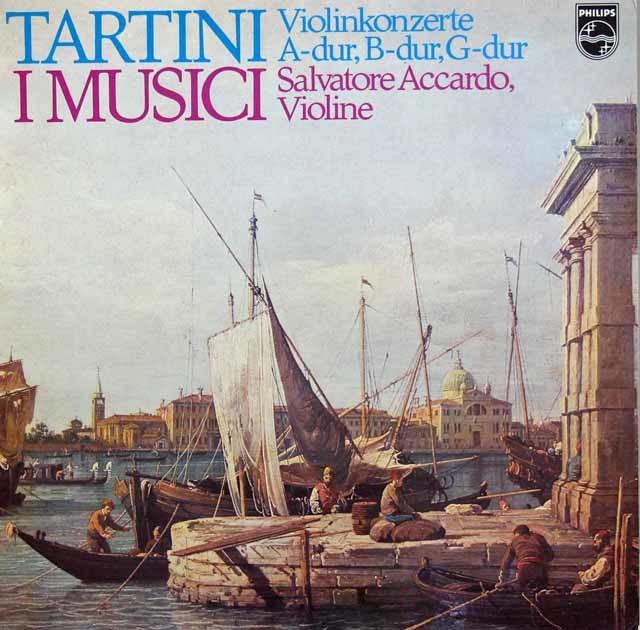 アッカルドとイ・ムジチのタルティーニ/ヴァイオリン協奏曲集  蘭PHILIPS   3107 LP レコード