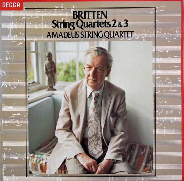 アマデウス四重奏団のブリテン/弦楽四重奏曲第2&3番 蘭DECCA 3107 LP レコード