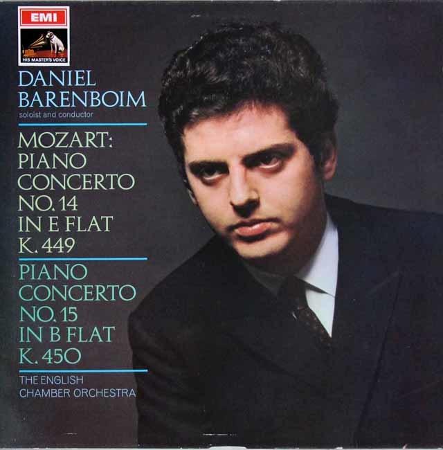 バレンボイムのモーツァルト/ピアノ協奏曲第14&15番 英EMI 3107 LP レコード