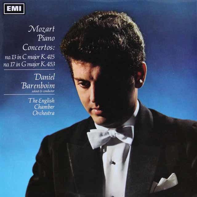 バレンボイムのモーツァルト/ピアノ協奏曲第13&17番 英EMI 3107 LP レコード