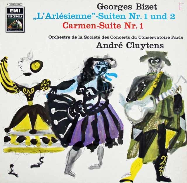 クリュイタンスのビゼー/「アルルの女」&「カルメン」組曲  独EMI 3107 LP レコード
