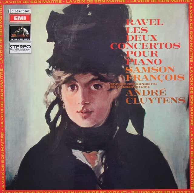 フランソワ&クリュイタンスのラヴェル/ピアノ協奏曲集 仏EMI(VSM) 3107 LP レコード