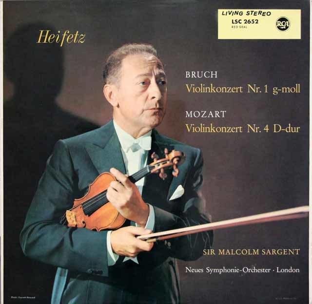 ハイフェッツのブルッフ/ヴァイオリン協奏曲第1番ほか 独RCA 3107 LP レコード