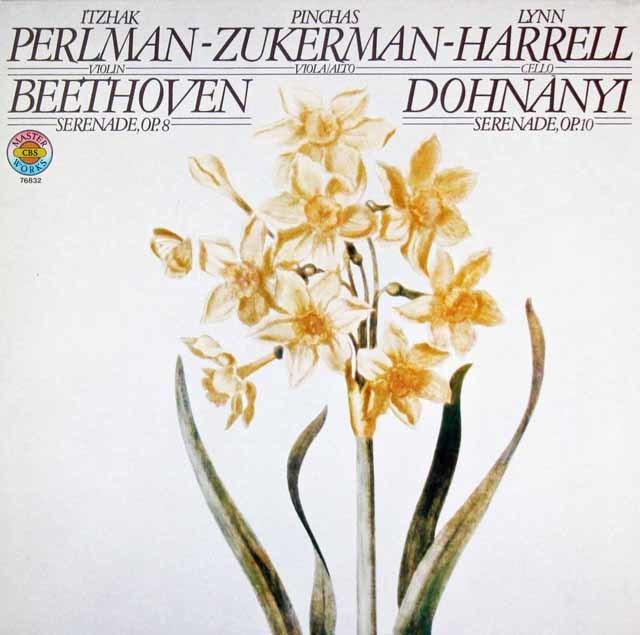 パールマン、ズッカーマン&ハレルのベートーヴェン/セレナーデほか 独CBS 3107 LP レコード