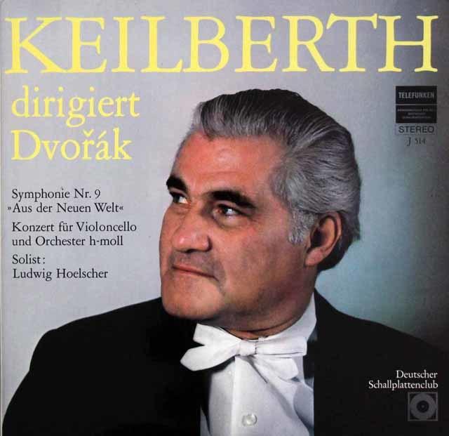 カイルベルトのドヴォルザーク/交響曲第9番「新世界より」ほか  独TELEFUNKEN 3107 LP レコード