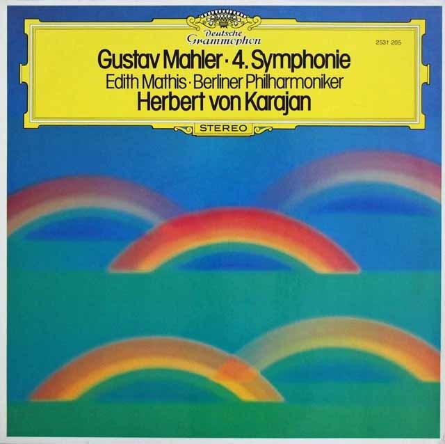 カラヤンのマーラー/交響曲第4番 独DGG 3108 LP レコード