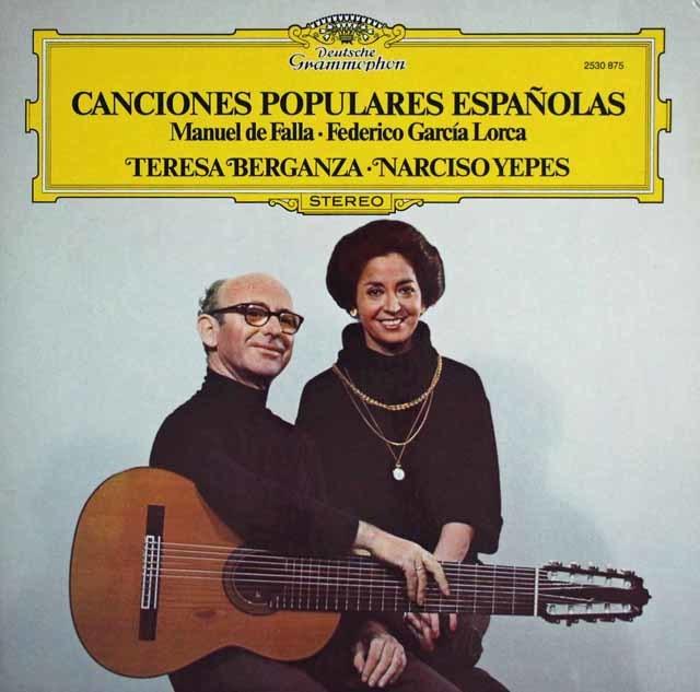 ベルガンサ&イエペスの「スペイン民謡集」 独DGG 3108 LP レコード