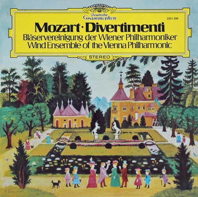 ウィーン・フィル管楽アンサンブルのモーツァルト/ディヴェルティメント 独DGG 3108 LP レコード