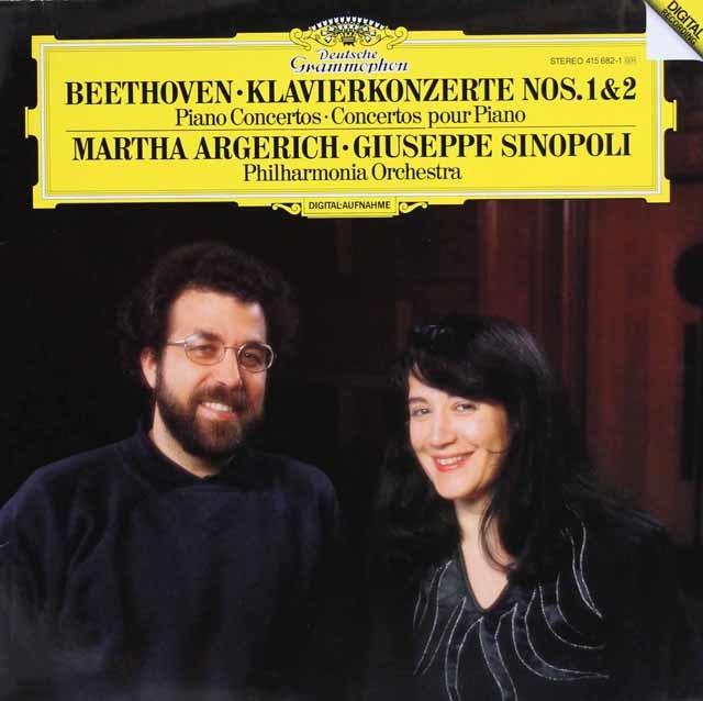 アルゲリッチ&シノーポリのベートーヴェン/ピアノ協奏曲第1&2番 独DGG 3108 LP レコード