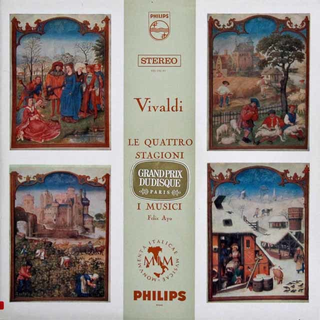 アーヨ&イ・ムジチ合奏団のヴィヴァルディ/「四季」 蘭PHILIPS 3108 LP レコード