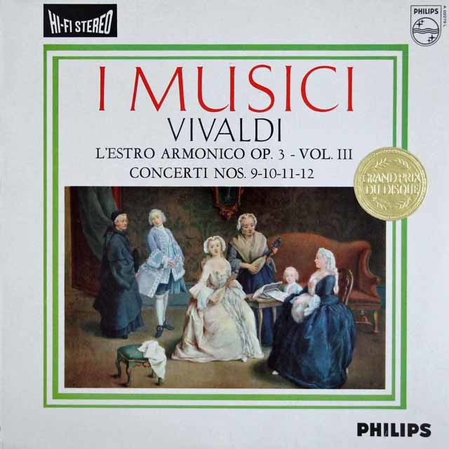 イ・ムジチのヴィヴァルディ/「調和の霊感」第3巻 第9~12番 蘭PHILIPS 3108 LP レコード