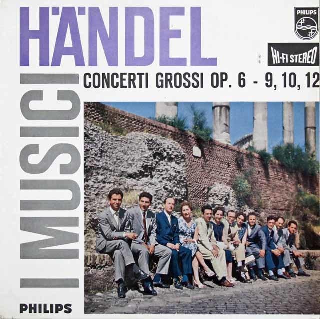 イ・ムジチ合奏団のヘンデル/合奏協奏曲第9、10&12番 蘭PHILIPS 3108 LP レコード