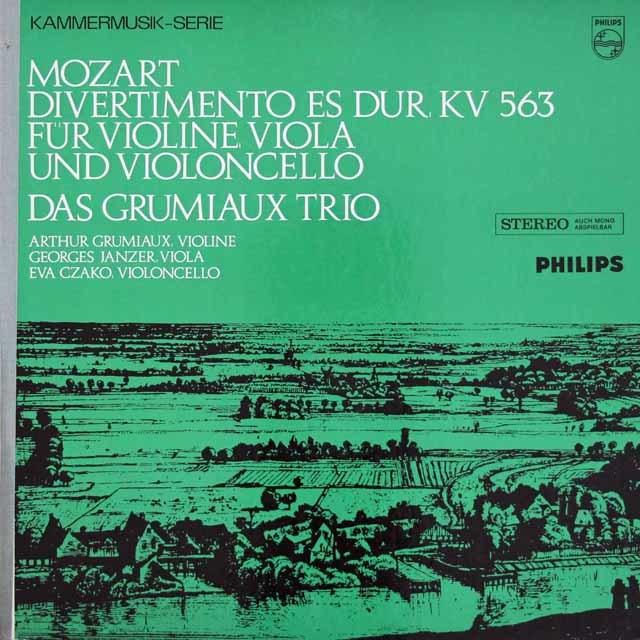 グリュミオー・トリオのモーツァルト/弦楽三重奏のためのディヴェルティメント 蘭PHILIPS 3108 LP レコード