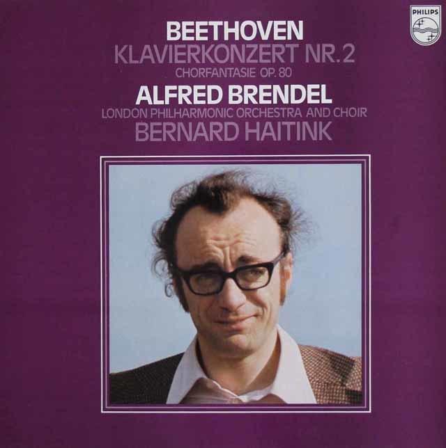 ブレンデル&ハイティンクのベートーヴェン/ピアノ協奏曲第2番&合唱幻想曲 蘭PHILIPS 3108 LP レコード