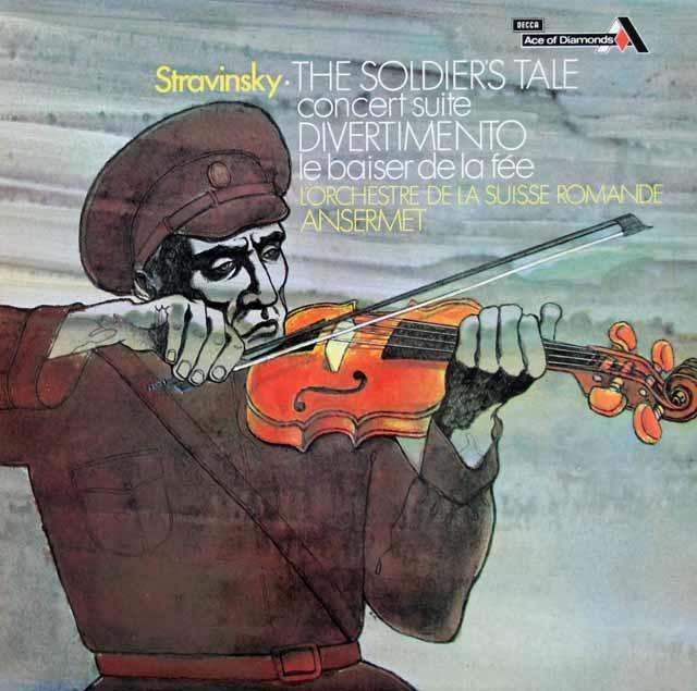 アンセルメのストラヴィンスキー/ 組曲「兵士の物語」ほか 英DECCA 3108 LP レコード