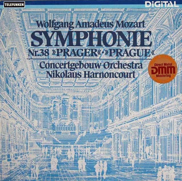 アーノンクールのモーツァルト/交響曲第38番「プラハ」 独TELEFUNKEN 3108 LP レコード