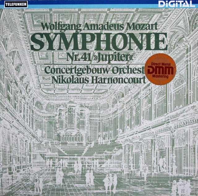 アーノンクールのモーツァルト/交響曲第41番「ジュピター」 独TELEFUNKEN 3108 LP レコード
