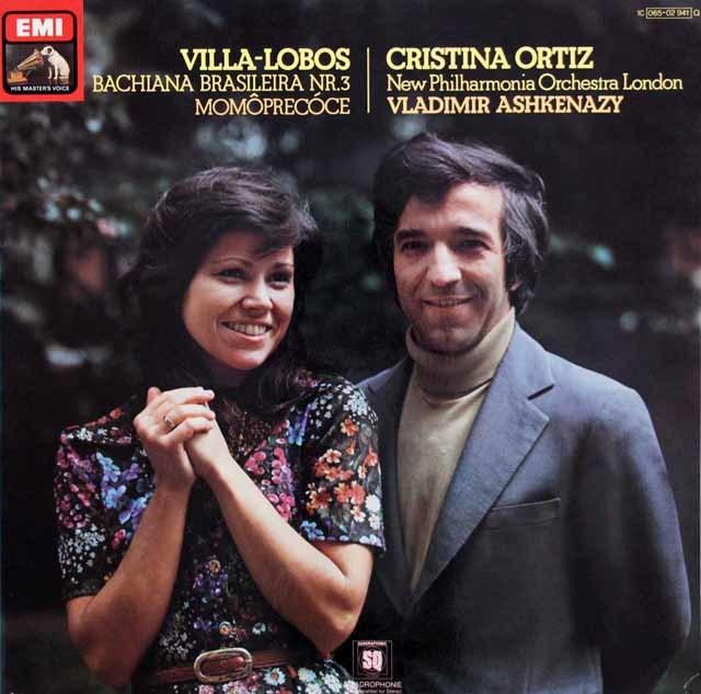 オルティス&アシュケナージのヴィラ=ロボス/ブラジル風バッハ第3番ほか 独EMI 3108 LP レコード