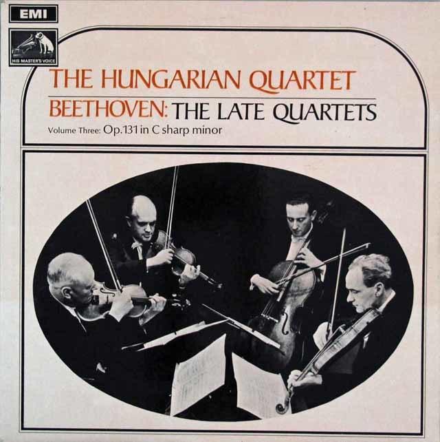 ハンガリー四重奏団のベートーヴェン/弦楽四重奏曲第14番 英EMI 3108 LP レコード