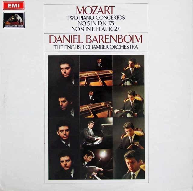 【オリジナル盤】 バレンボイムのモーツァルト/ピアノ協奏曲第5&9番「ジュノーム」 英EMI 3108 LP レコード