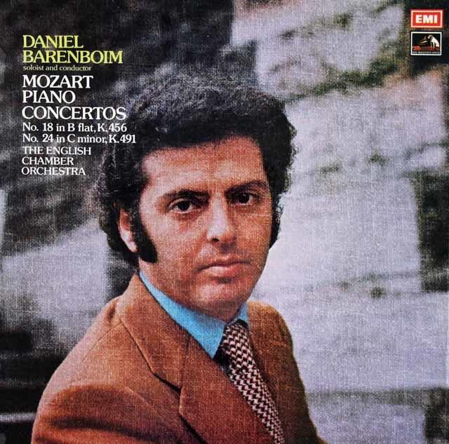 【オリジナル盤】 バレンボイムのモーツァルト/ピアノ協奏曲第18&24番 英EMI 3108 LP レコード
