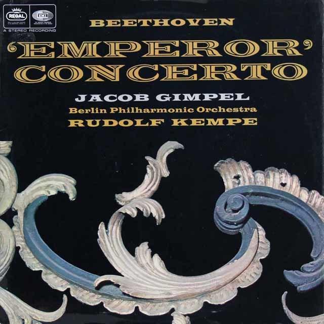 ギンペル&ケンペのベートーヴェン/ピアノ協奏曲第5番「皇帝」 英REGAL 3108 LP レコード