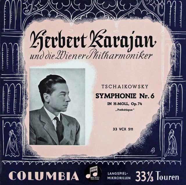 カラヤンのチャイコフスキー/交響曲第6番「悲愴」 オーストリアColumbia 3108 LP レコード