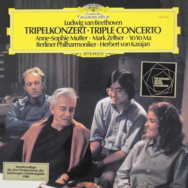 ムター、ゼルツァー、マ&カラヤンのベートーヴェン/三重協奏曲  独DGG 3109 LP レコード