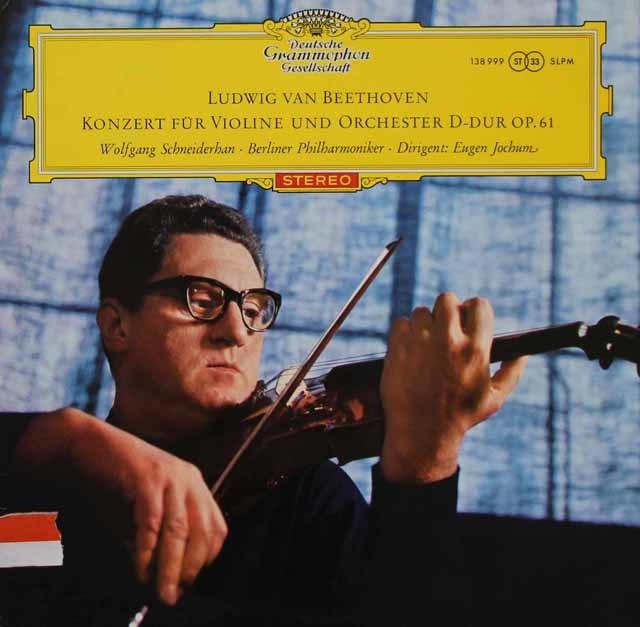 【赤ステレオ】シュナイダーハン&ヨッフムのベートーヴェン/ヴァイオリン協奏曲 独DGG 3109 LP レコード