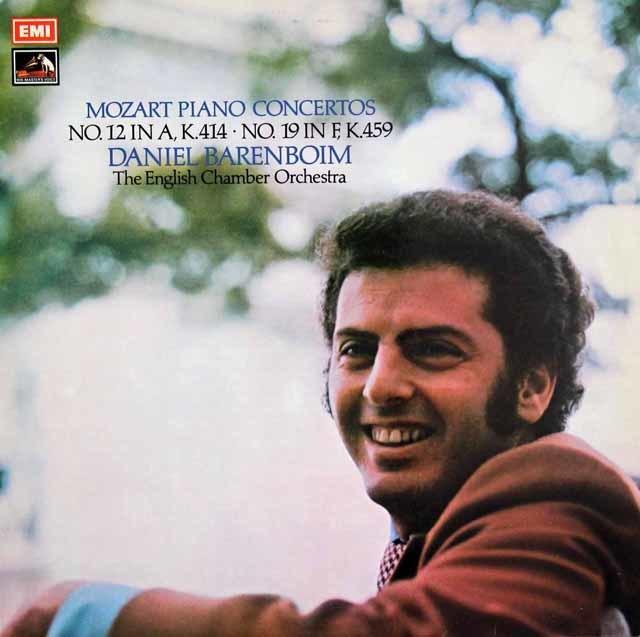 【オリジナル盤】バレンボイムのモーツァルト/ピアノ協奏曲第12&19番 英EMI 3109 LP レコード