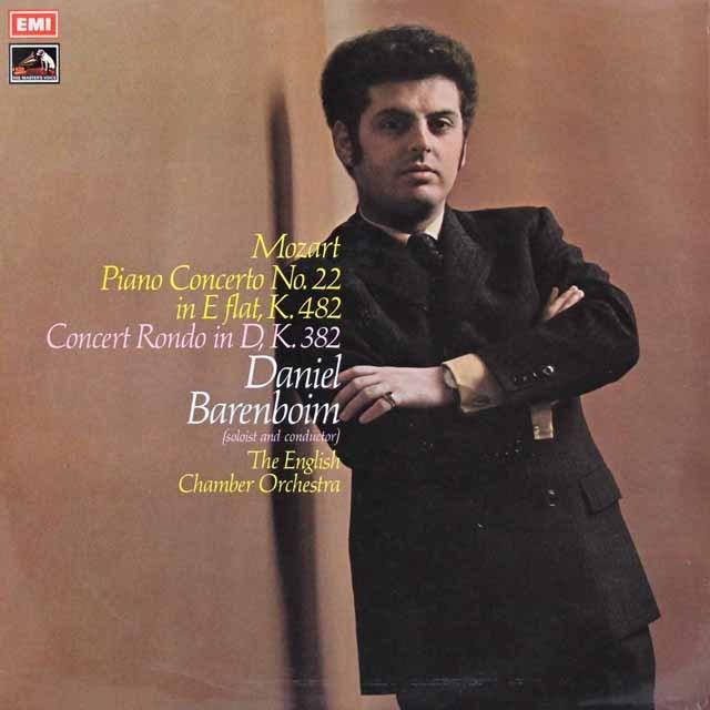 【オリジナル盤】バレンボイムのモーツァルト/ピアノ協奏曲第22番ほか 英EMI 3109 LP レコード