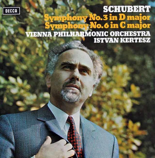 【オリジナル盤】ケルテスのシューベルト/交響曲第3&6番 英DECCA 3109