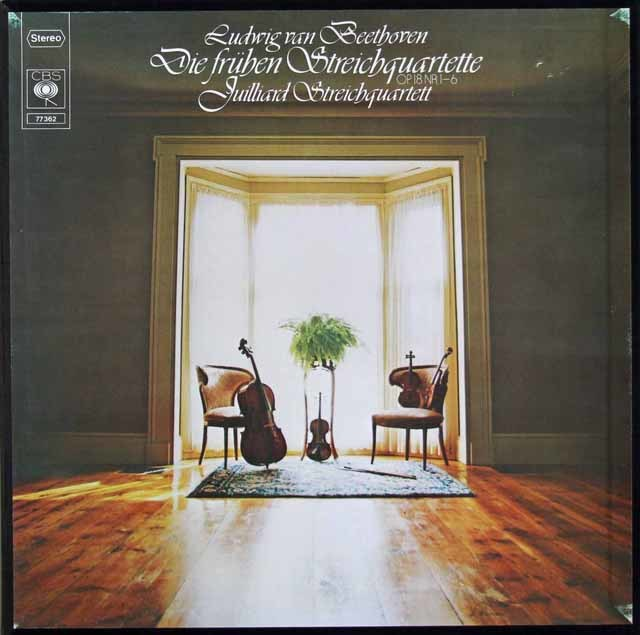 ジュリアード四重奏団のベートーヴェン/初期弦楽四重奏曲集 独CBS 3109 LP レコード