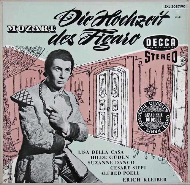 【独最初期盤】エーリヒ・クライバーのモーツァルト/「フィガロの結婚」 独DECCA 3109 LP レコード