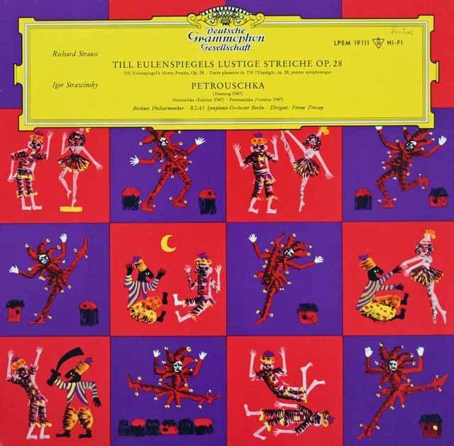 【独最初期盤/モノラル】 フリッチャイのR.シュトラウス/交響詩「ティル・オイレンシュピーゲルの愉快ないたずら」ほか 独DGG 3110 LP レコード