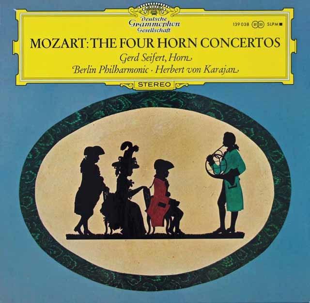 ザイフェルト&カラヤンのモーツァルト/ホルン協奏曲第1~4番 独DGG 3110 LP レコード