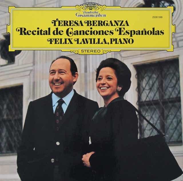 ベルガンサのスペイン歌曲集 独DGG 3110 LP レコード