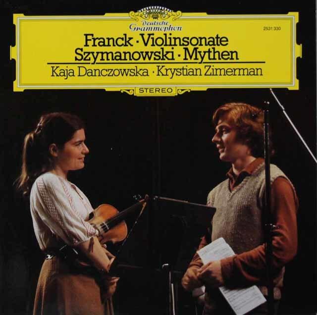 ダンチョフスカ&ツィンマーマンのフランク/ヴァイオリン・ソナタほか 独DGG 3110 LP レコード