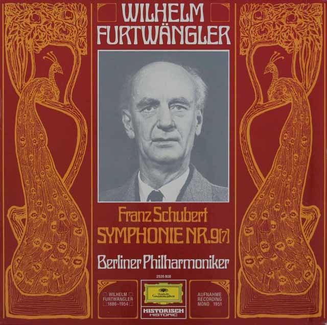 フルトヴェングラーのシューベルト/交響曲第9番「ザ・グレイト」 独DGG 3110 LP レコード