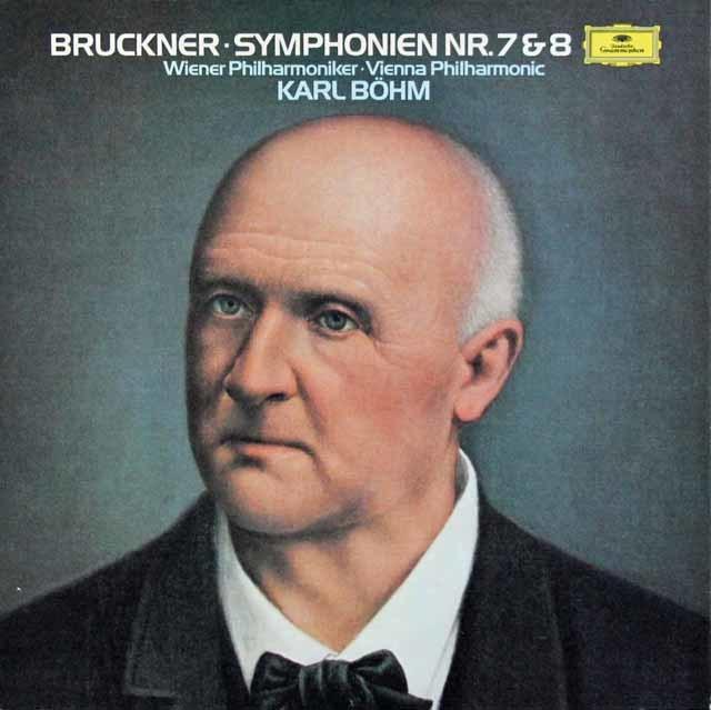 ベームのブルックナー/交響曲第7&8番 独DGG 3110 LP レコード