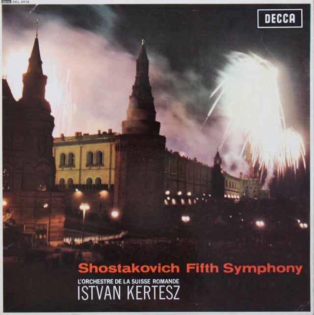 【オリジナル盤】 ケルテスのショスタコーヴィチ/交響曲第5番 英DECCA 3110 LP レコード