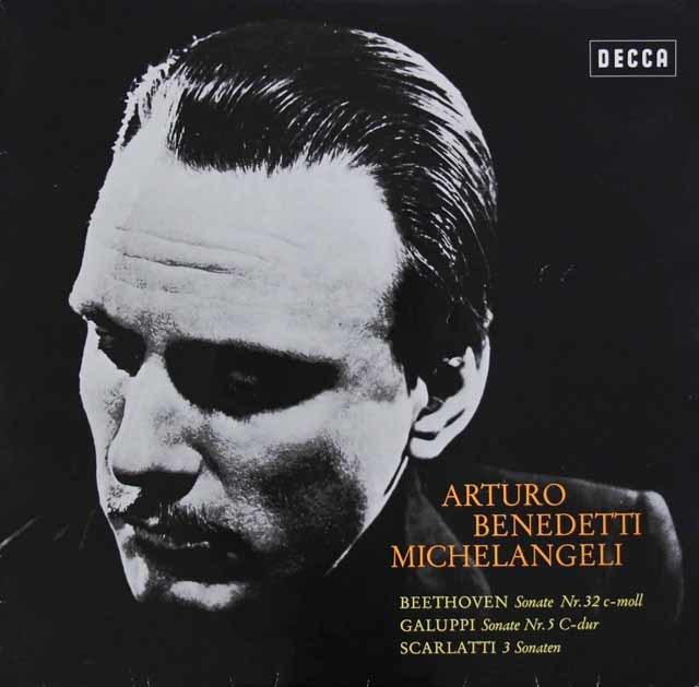 ミケランジェリのベートーヴェン、ガルッピ、スカルラッティ/ソナタ集 独DECCA 3110 LP レコード