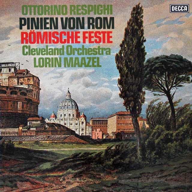 マゼールのレスピーギ/ローマ松&ローマの祭り 独DECCA 3110 LP レコード
