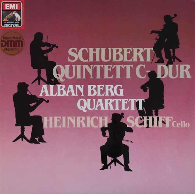 アルバン・ベルク四重奏団&シフのシューベルト/弦楽五重奏曲 独EMI 3110 LP レコード