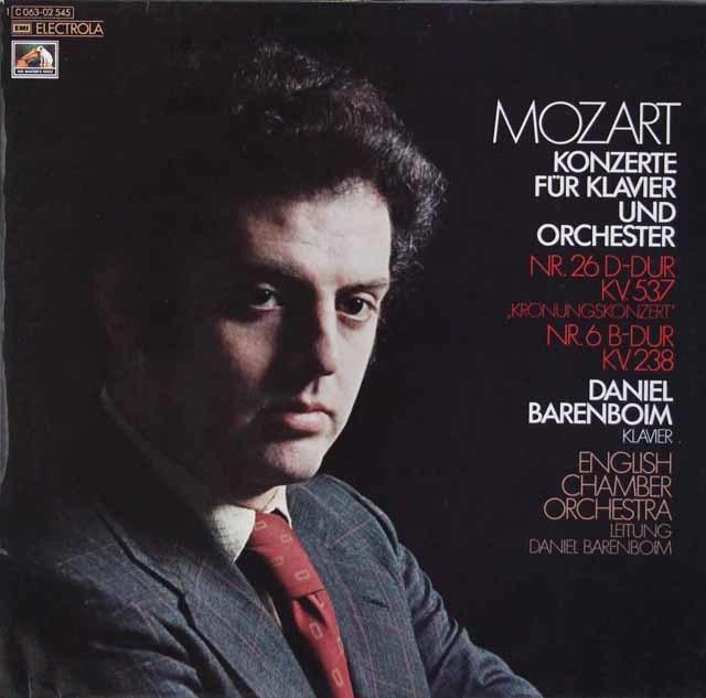 バレンボイムのモーツァルト/ピアノ協奏曲第26番「戴冠式」&第6番 独EMI 3110 LP レコード