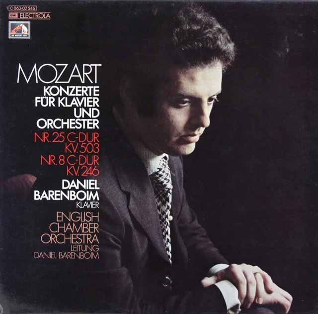 バレンボイムのモーツァルト/ピアノ協奏曲第25&8番「リュッツォウ」 独EMI 3110 LP レコード